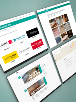 Vistas del Portfolio Creative Studio web Nova Encimeras