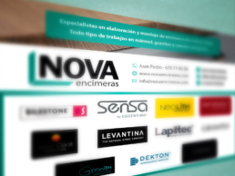 diseño anuncio Nova Encimeras Creative Studio