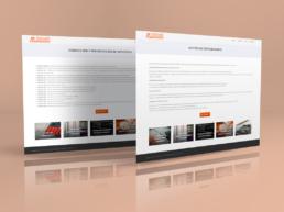 Vista web servicios pagina individual Montalbán Asesores Creative Studio