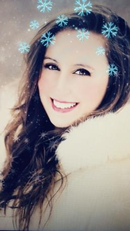 Filtro Snapchat nieve navidad