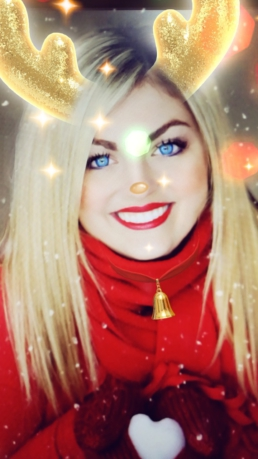Filtro Snapchat reno navidad