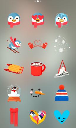 Stickers navidad instagram