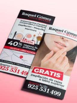 Salón de Belleza Raquel Gómez (principal) - Creative Studio, diseño, web y publicidad en Toledo