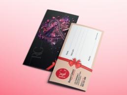 Tarjetas de regalo Salón de Belleza Raquel Gómez - Creative Studio, diseño, web y publicidad en Toledo