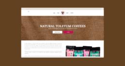 Tienda Online inicio Toletum Natural Coffee - Creative Studio, diseño, web y publicidad en Toledo