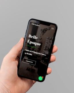 Salón Belle Époque responsive - Creative Studio, diseño, web y publicidad en Toledo
