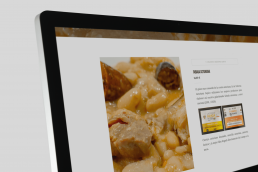 Producto página web Taberna Asturiana Zapico - Creative Studio, diseño, web y publicidad en Toledo