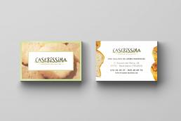 Tarjeta de visita Caseríssima, obrador sin gluten - Creative Studio, diseño, web y publicidad en Toledo