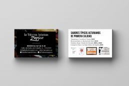 Tarjeta de visita Taberna Asturiana Zapico - Creative Studio, diseño, web y publicidad en Toledo